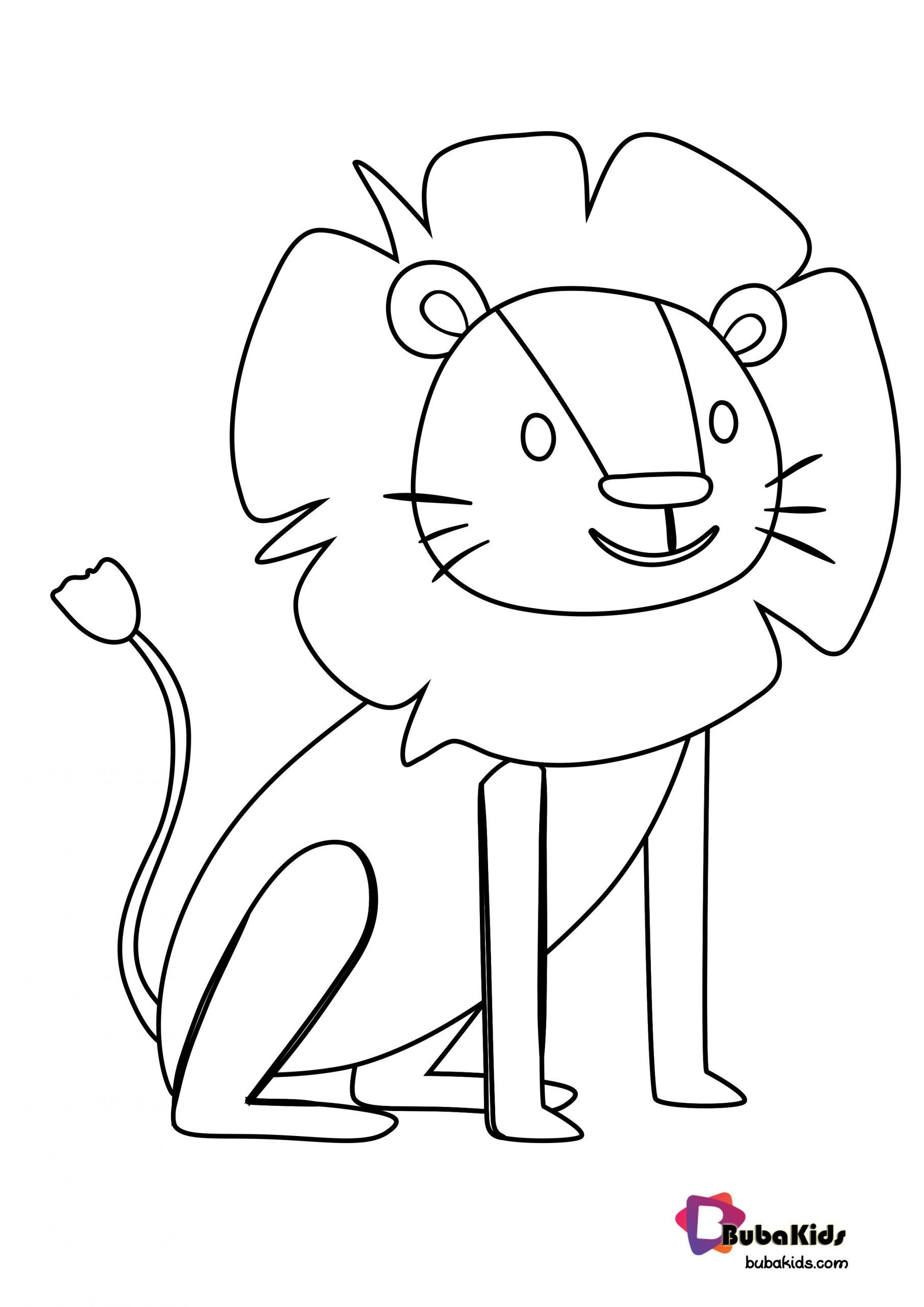 Cute Lion For Preschool Kids Coloring Page In 2020 Animal