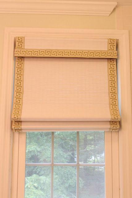 Diy Greek Key Roman Shade Diy Window Shades Diy Window