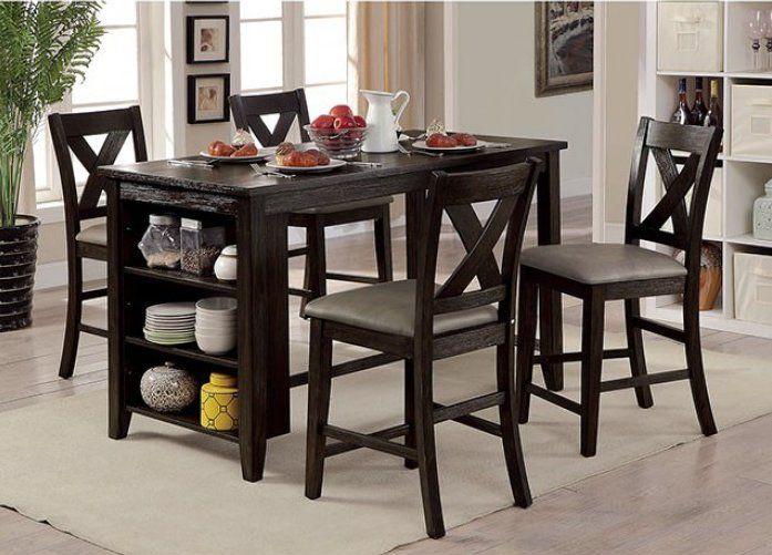Araiza Counter Height Extendable Dining Table Vozeli Com