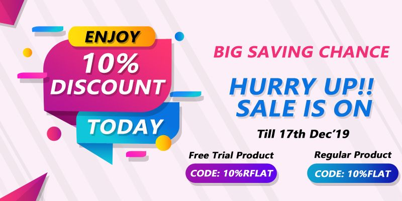 Grab the Exciting today Super Sale offering a 10 discount on all our Products  3 days free trial on selected products Just go for it as the offer begin from 10th December...