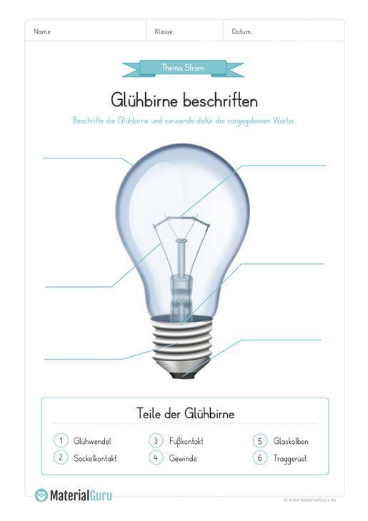 Kostenlose Arbeitsblätter und Übungen zum Thema Strom für den Sachkunde-Unter... - Classroom tec