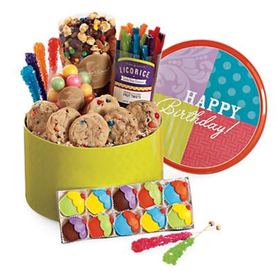 This Colorful Tin Of Treats Will Make A Fun And Tasty Centerpiece For Any Birthday Table