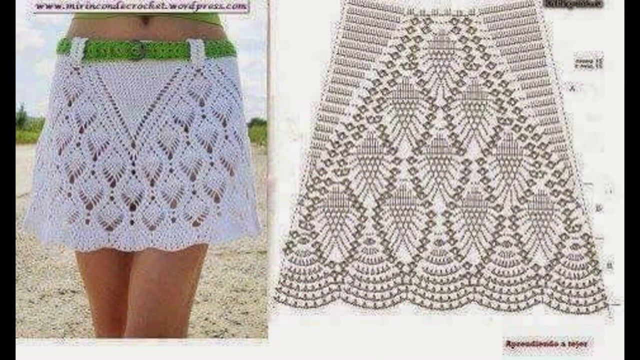 Contemporáneo Patrón Falda Crochet Libre Adorno - Ideas de Patrones ...
