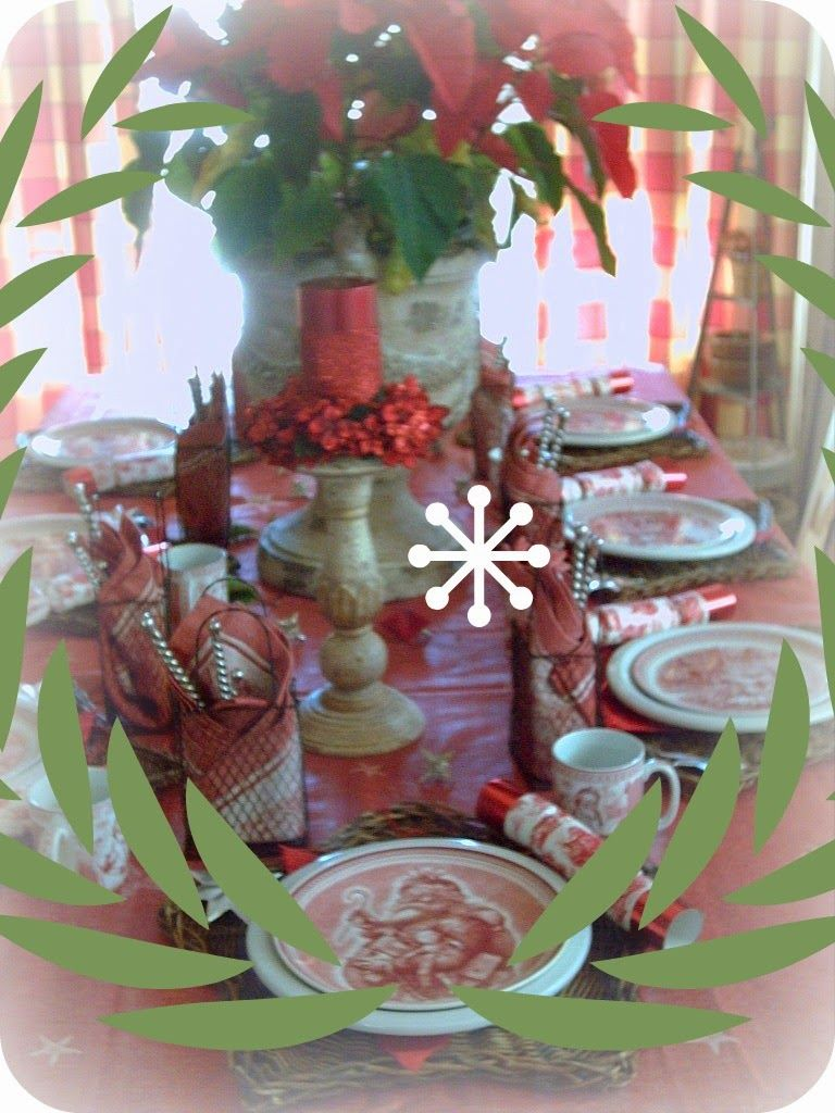 Candlelightsupper Style Your Table: Olde St. Nick Tablescape   Table setting inspired ...