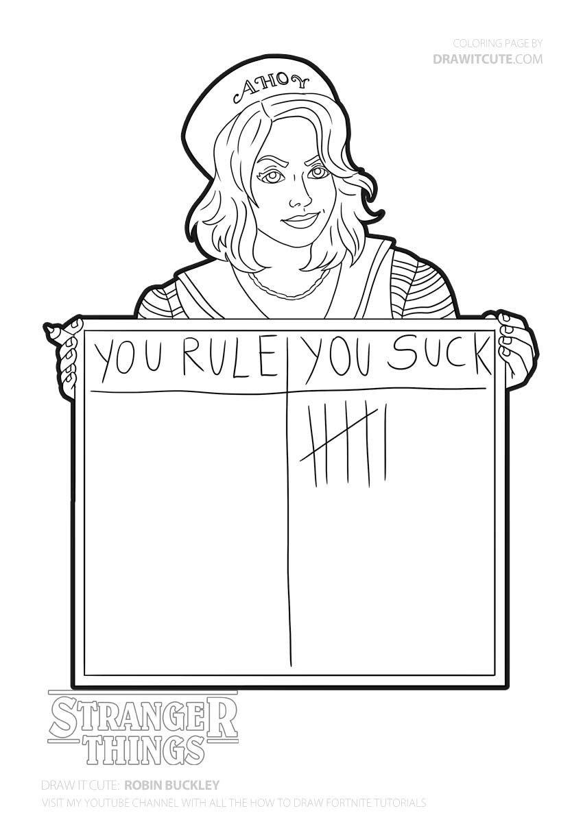 Free Download Stranger Things Season 32 Coloring Pages
