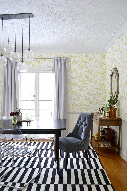 A Bright, Whimsical Dining Room With Affordable Furnishings ...