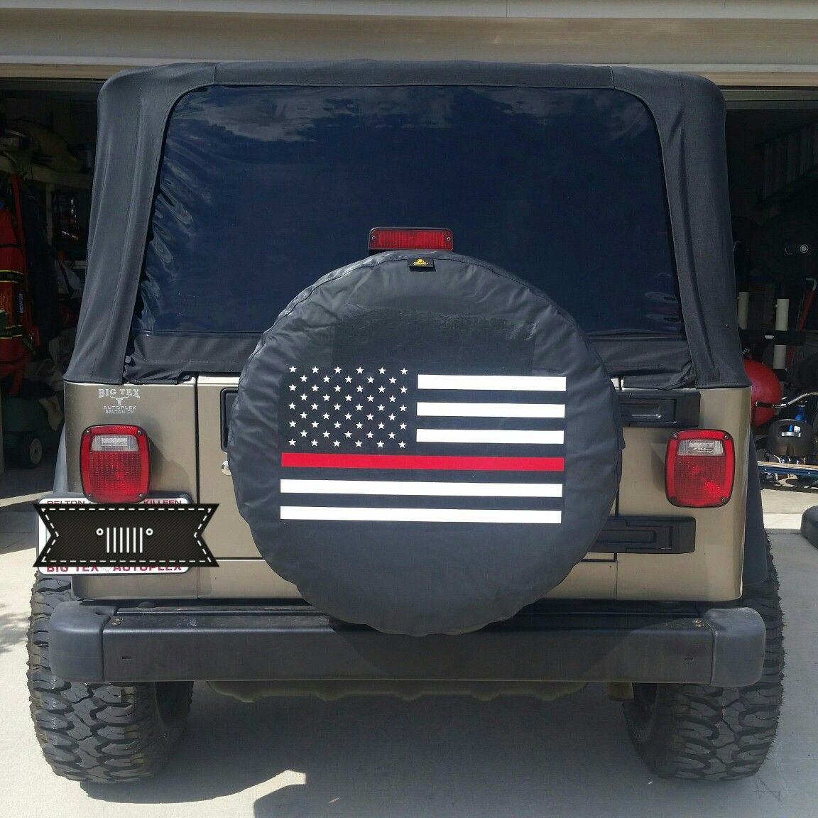 Jeep Tj Thin Red Line Jeep Wrangler Tire Covers Jeep Spare Tire