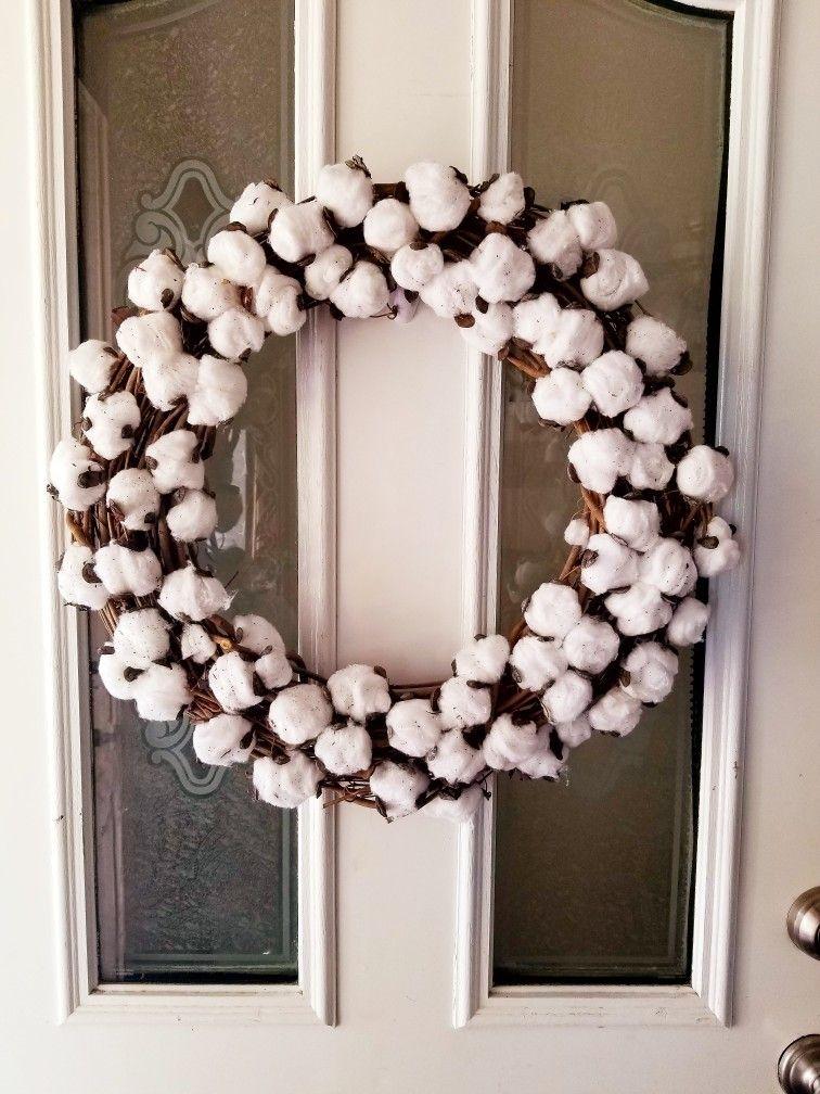 Diy Cotton Ball Wreath Ball Wreath Cotton Wreath Wreaths
