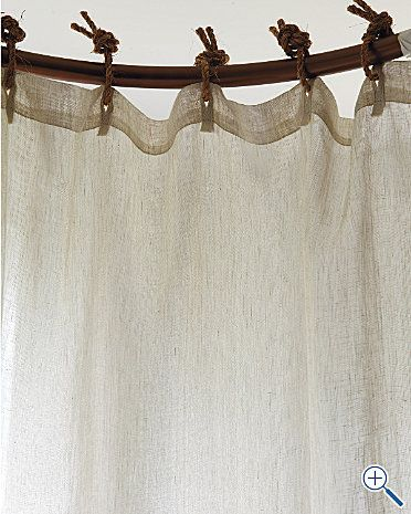 af0e7357499 DIY   Rope Curtain Loops--I think I d like them better crimped. These are  clever