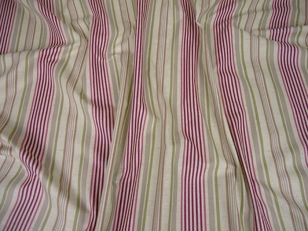 Clarke & Clarke's Studio G Belle Cotton Fabric F0620/03 Mulberry - Curtains & Light Upholstery - The Millshop Online