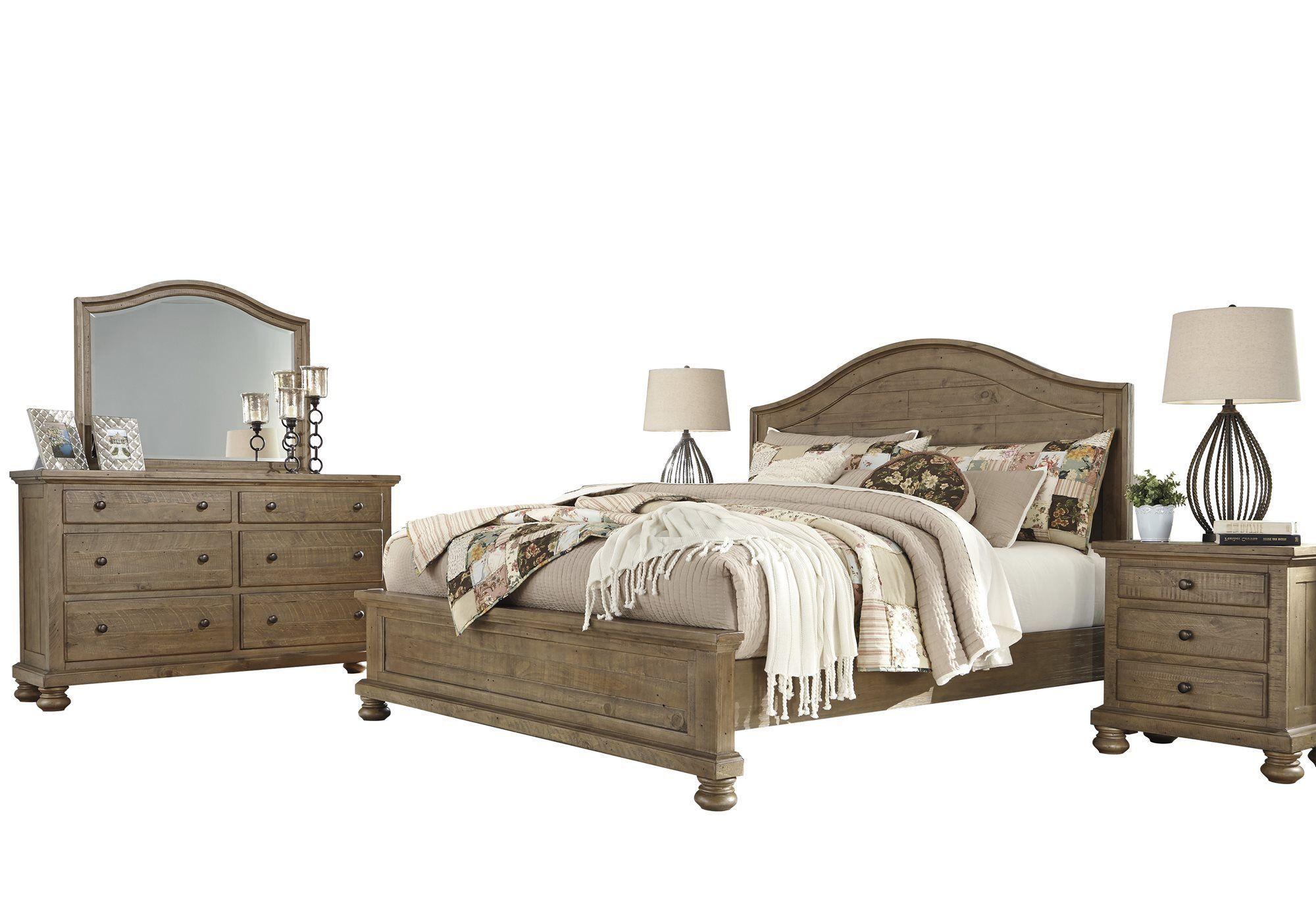 Ashley Trishley 5pc Bedroom Set Cal King Panel Bed Two Nightstand
