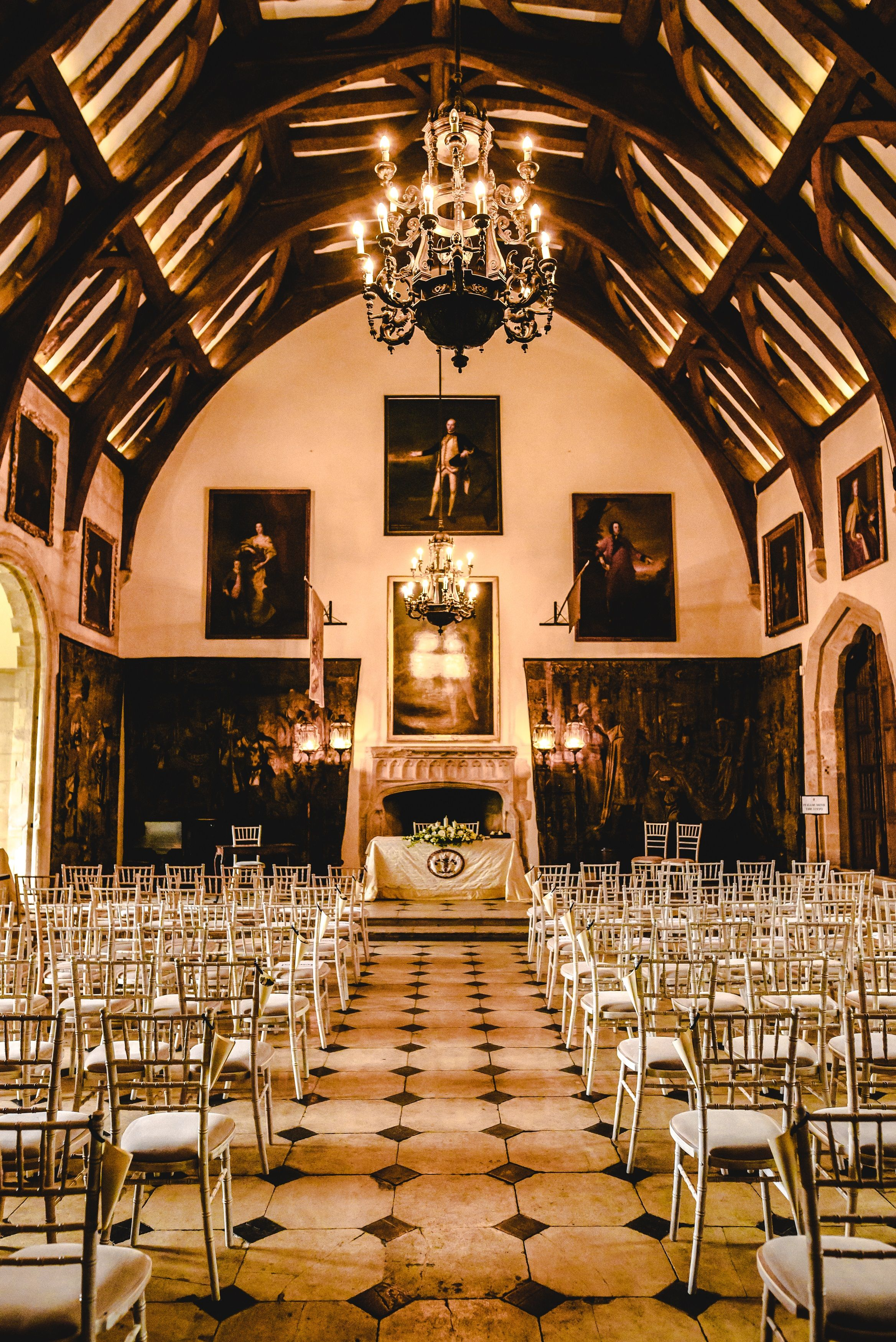 Civil Ceremony In The Great Hall At Berkeley Castle Wedding