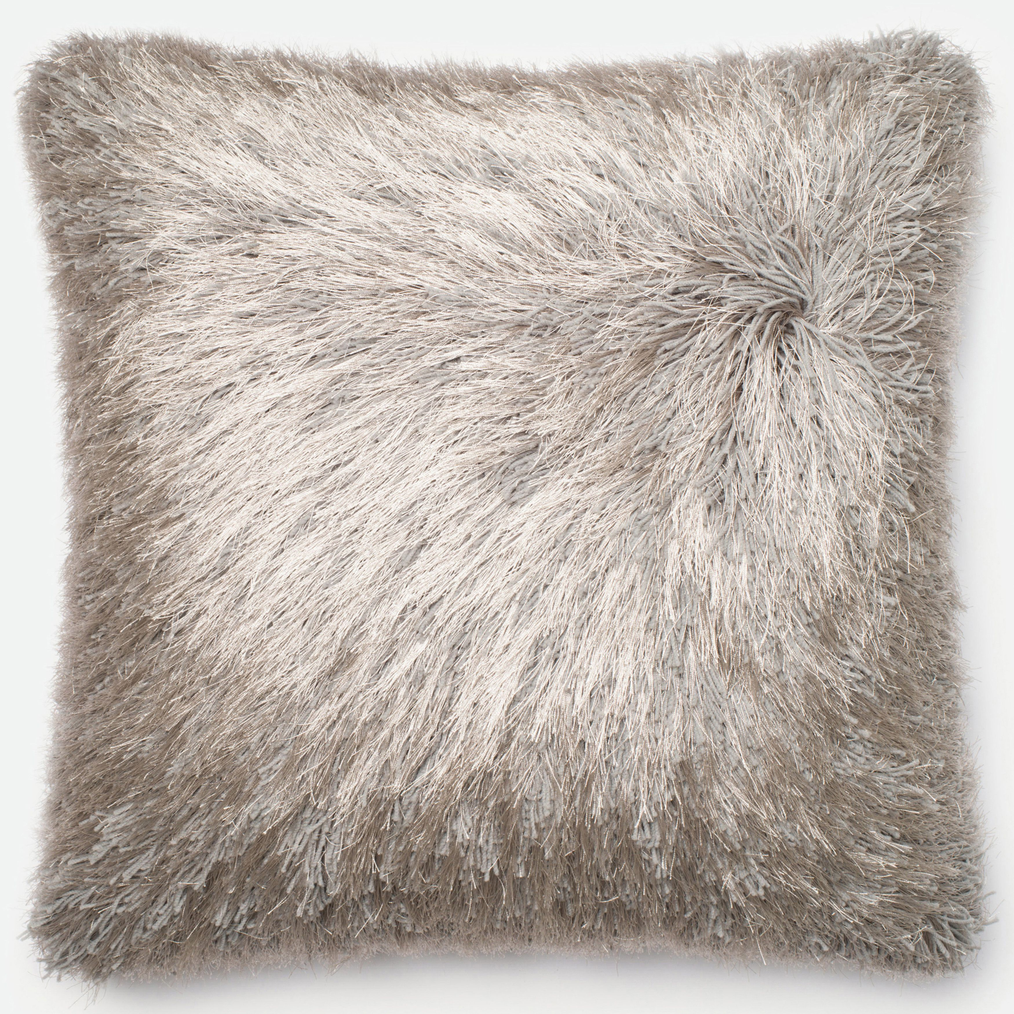 Alexander Home Luxe Solid Shag Down Feather or Polyester Filled 20 ...