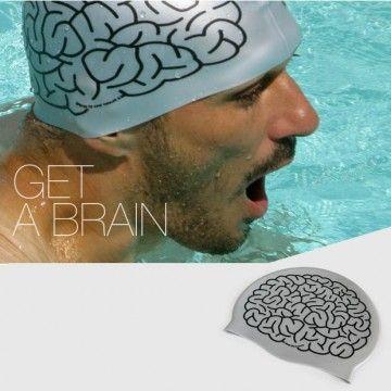 a99d8d40e379 Gorro de natación Cerebro - Tienda de regalos originales QueLoVendan ...