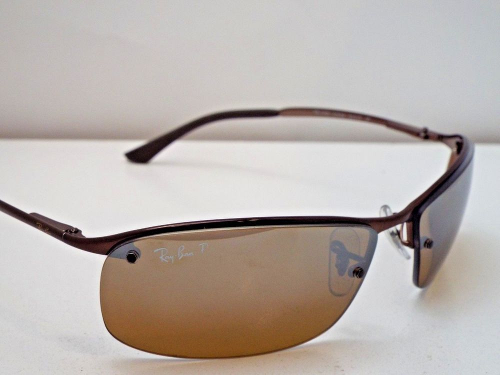855b3cc4e86a12 Authentic Ray-Ban RB 3183 014 84 Brown Brown Polarized Gradient Sunglasses   258  fashion  clothing  shoes  accessories  unisexclothingshoesaccs ...