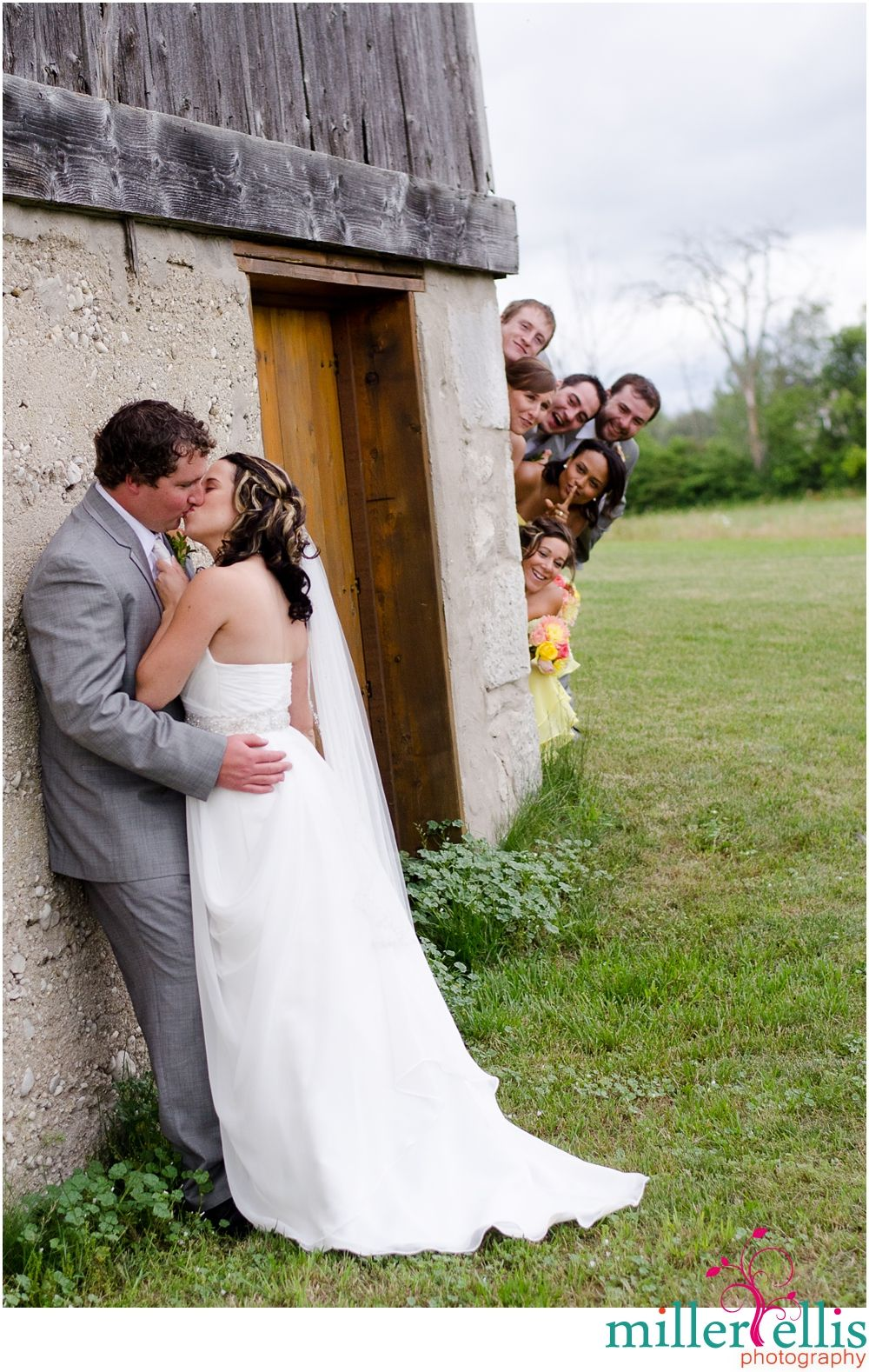 Fun Bridal Party Shot! Hahahaha! Spies the lot of them! ;) | wedding ...