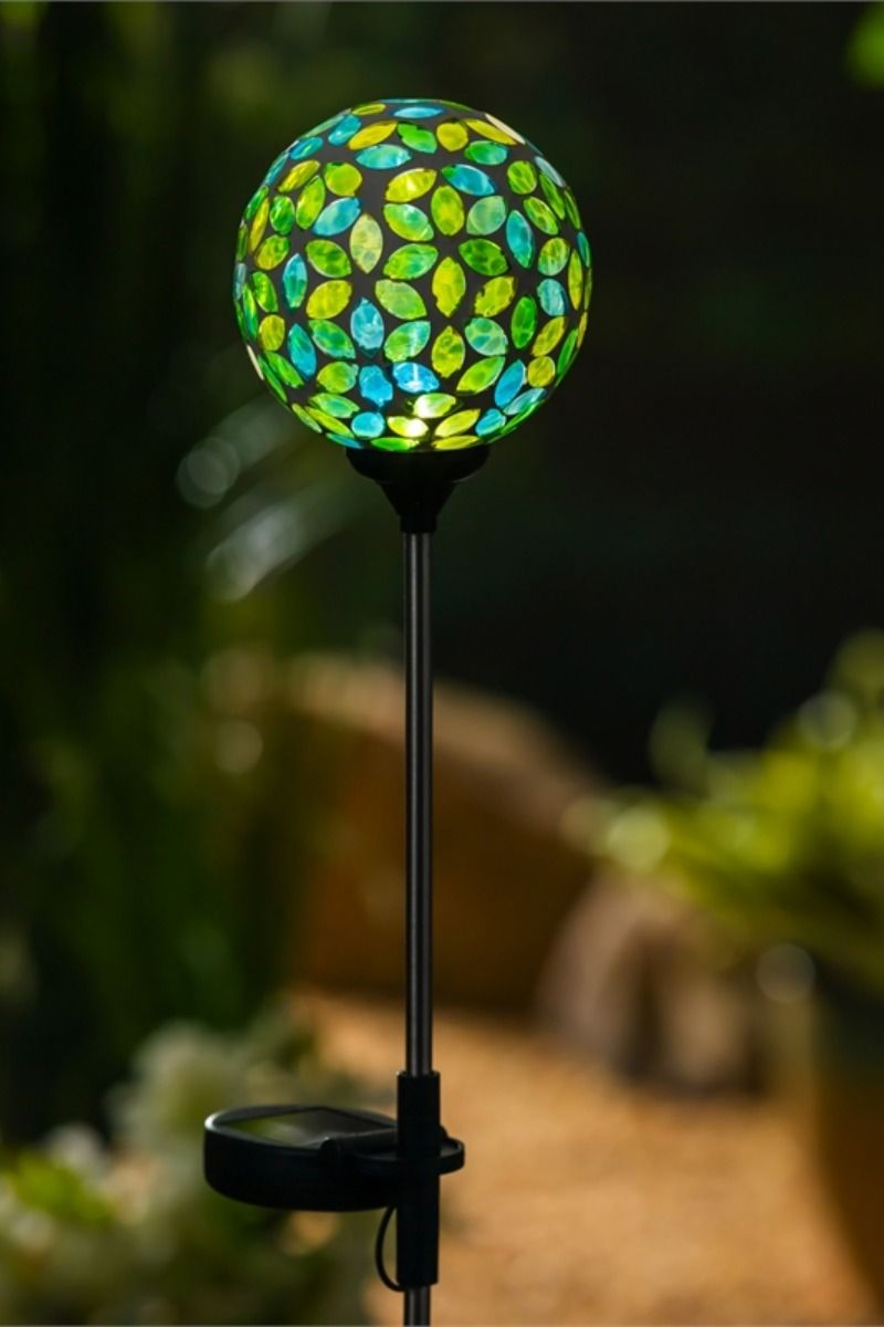 This 12 Piece Cdu Includes 3 Assorted Solar Powered Garden Stakes