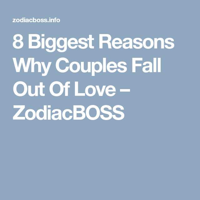 why do couples fall out of love