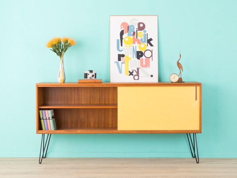 Teak sideboard 60er kommode 50er vintage von mid for Sideboard 50er 60er