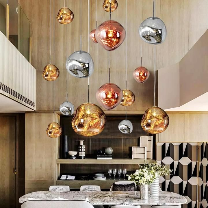 Tom Dixon Melt Mini Pendant Light Replica Chrome Gold Tom Dixon Melt Mini Pendant Lights Tom Dixon