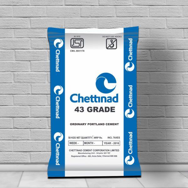 Chettinad OPC 43 | RG Cement | Cement, Masonry work