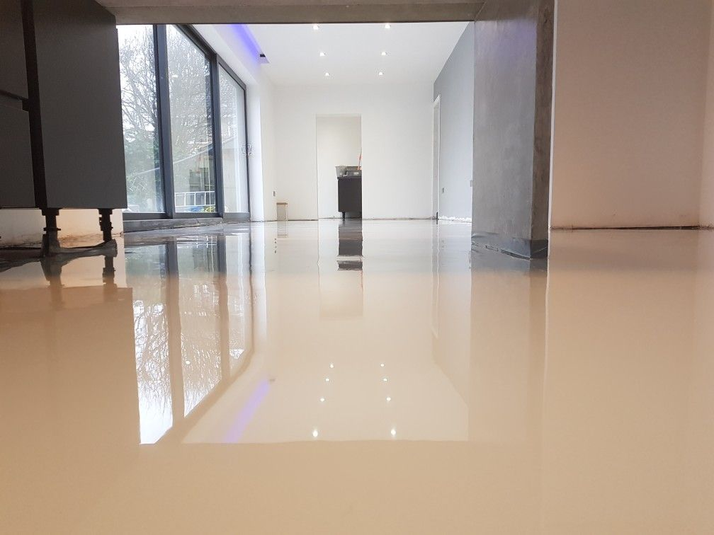 Light Grey Epoxy Resin Floor All Works Carried Out By Pmr Chelmsford Epoxy Resin Flooring Design Sponge Epoxy Resin