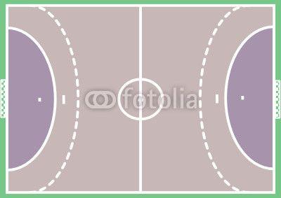 vektorgrafik handball basteln mit kindern