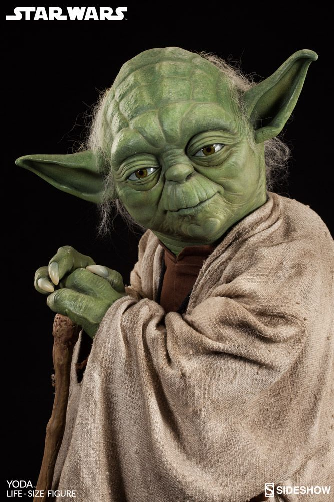 star wars yoda life size figure by sideshow collectibles sideshow
