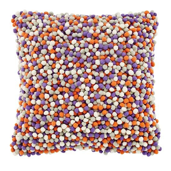 Pom Pom Throw Pillow in Throw Pillows | The Land of Nod ...