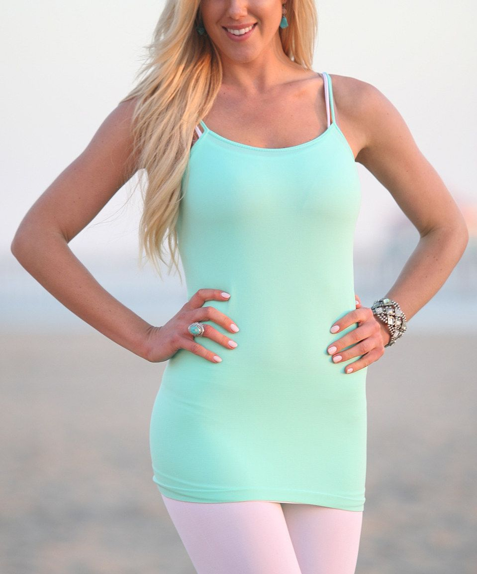Take a look at this Ananda's Collection Aqua Camisole today!