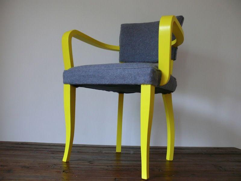 silver oyster fauteuil bridge von mucha creative designs auf inspiration mondial. Black Bedroom Furniture Sets. Home Design Ideas