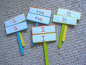 Sight words learning with garden signs