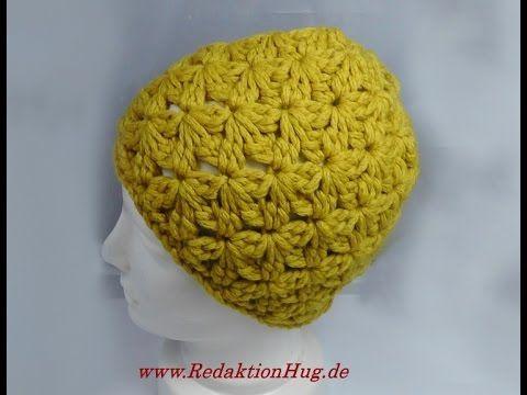 Häkeln - Mütze im kleinen Blütenmuster - Veronika Hug | berretti ...