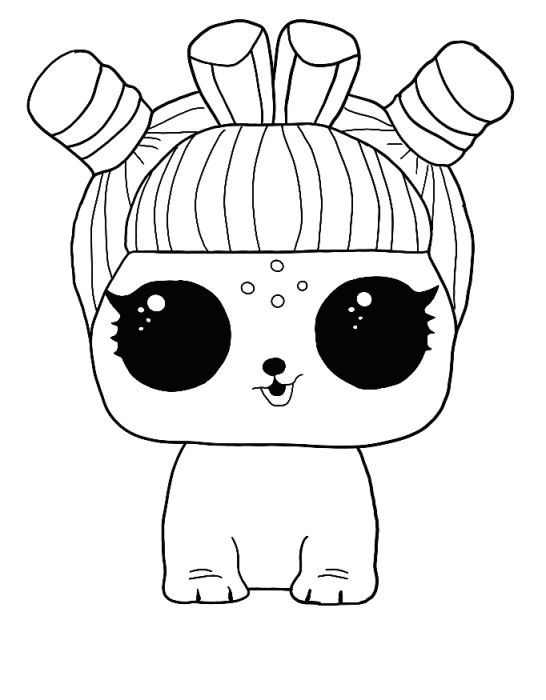 LOL Surprise Winter disco coloring pages Free coloring