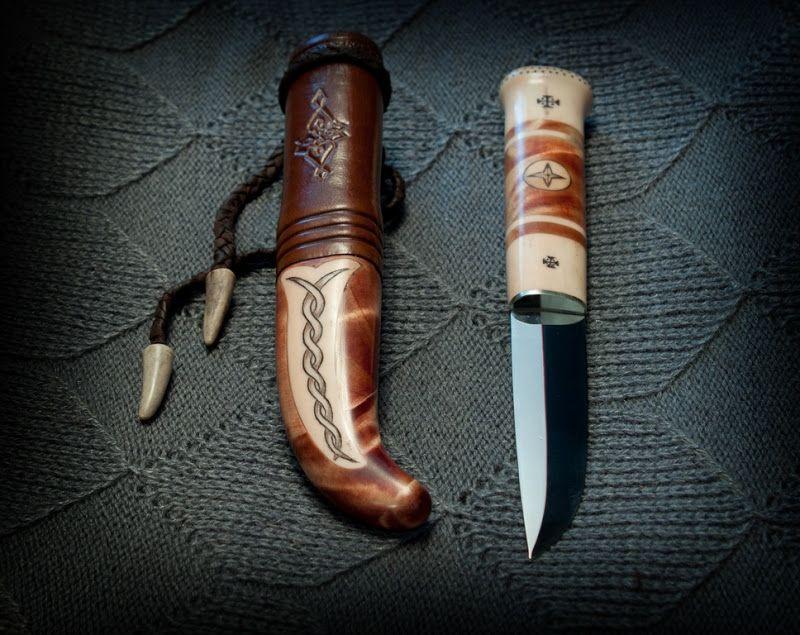 Saami knife by Yuri Kapustin