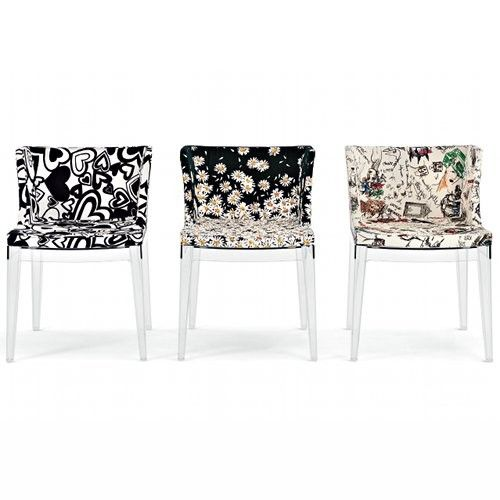 mademoiselle chair moschino fabric design by philippe starck