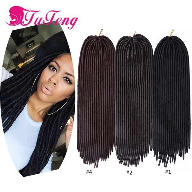 Faux Locs Crochet Hair 18 Inch Dreadlocks Crochet Braids Hair