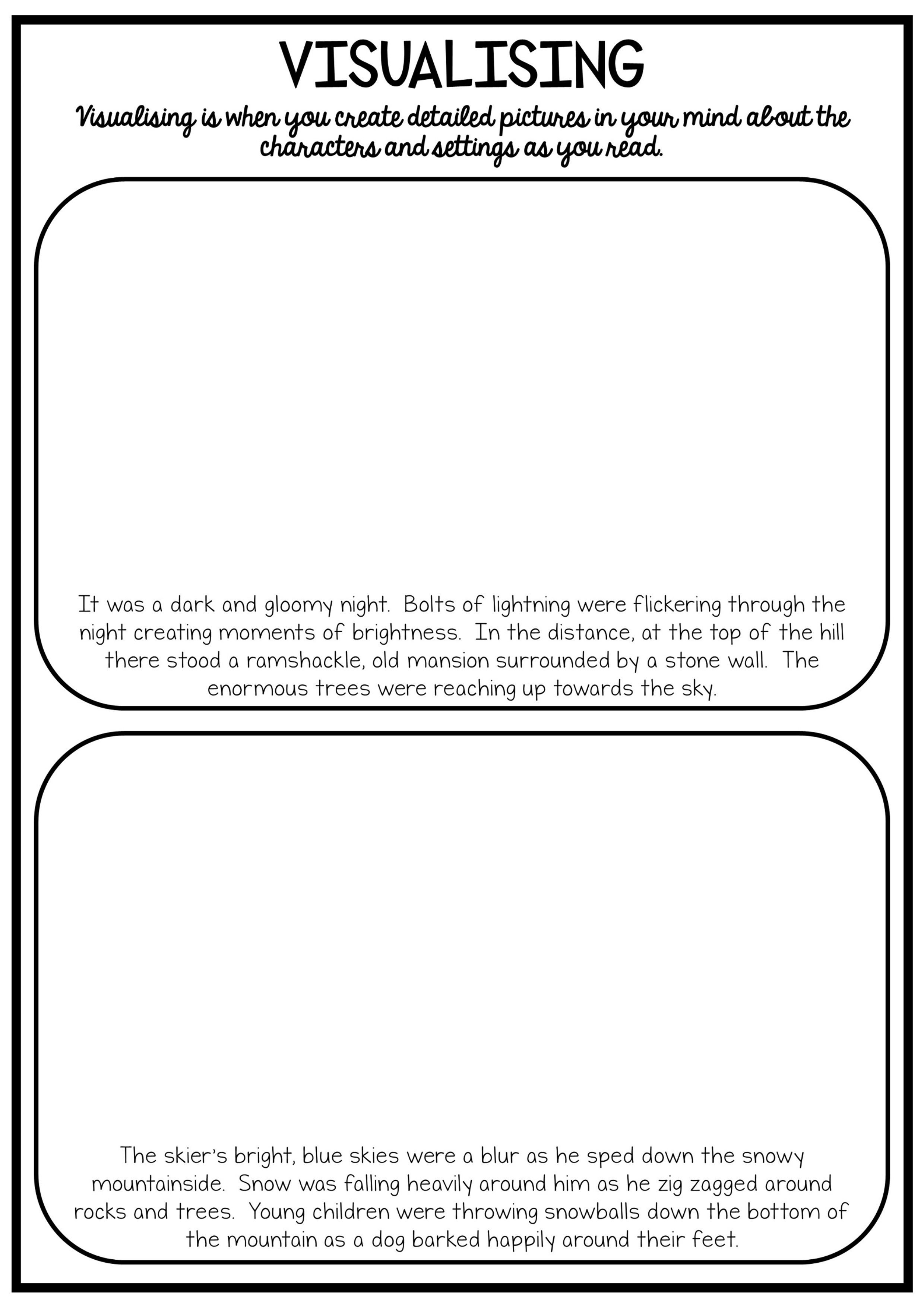 Reading And Grammar Pack No Prep Printables Relief Teaching Ideas Visualizing And Verbalizing Spelling And Handwriting [ 3508 x 2480 Pixel ]