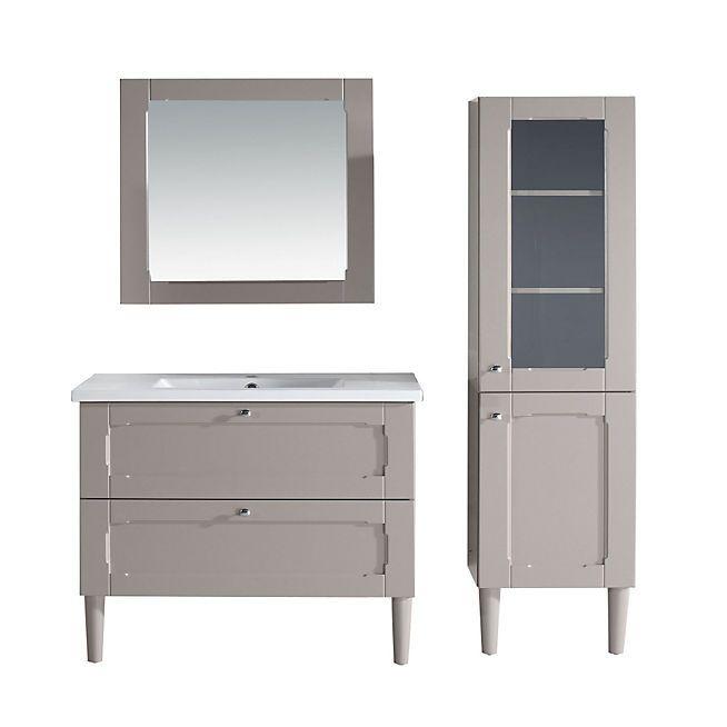 Classic Bain Meuble sous vasque simple + vasque + miroir - couleur
