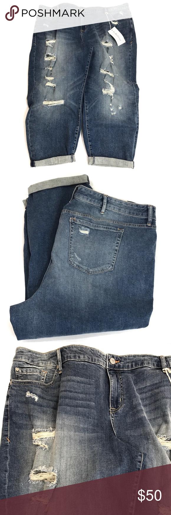 Torrid Distressed Ex Boyfriend Jeans Torrid Distressed Ex