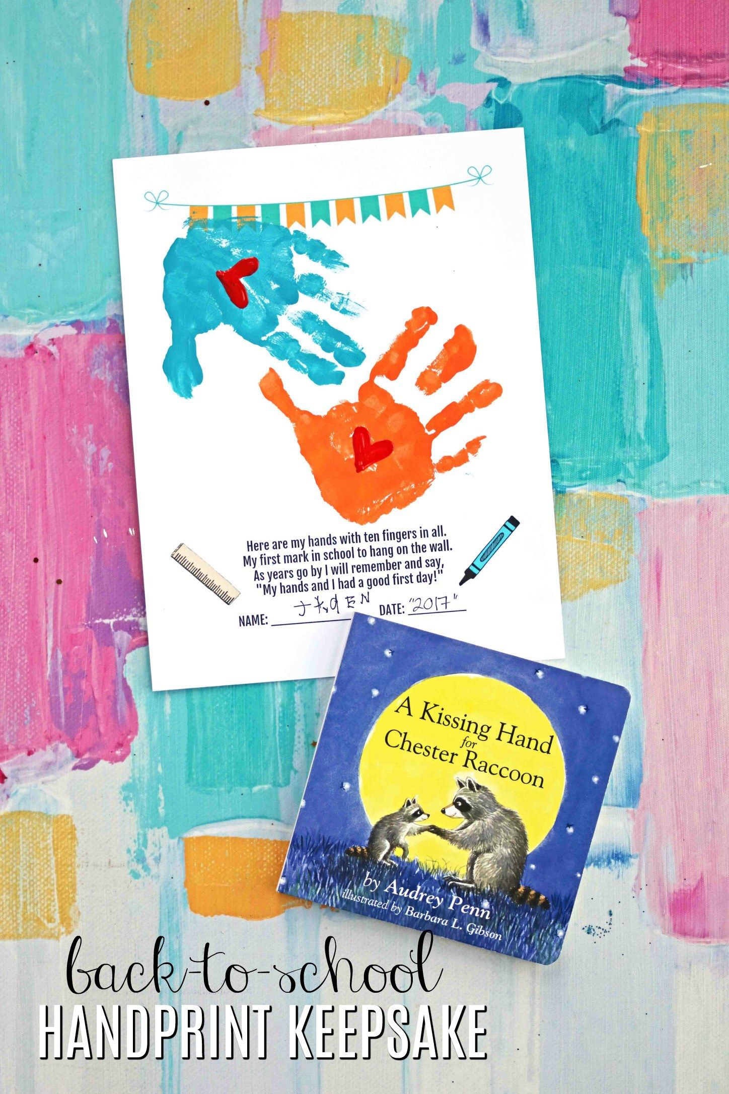 Handprint Back To School Keepsake Printable