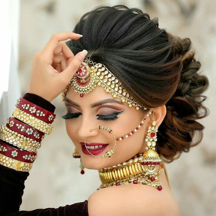Beautiful Bridal Hairstyle Bridal Hairstyle Indian Wedding Indian Bridal Hairstyles Indian Bride Hairstyle