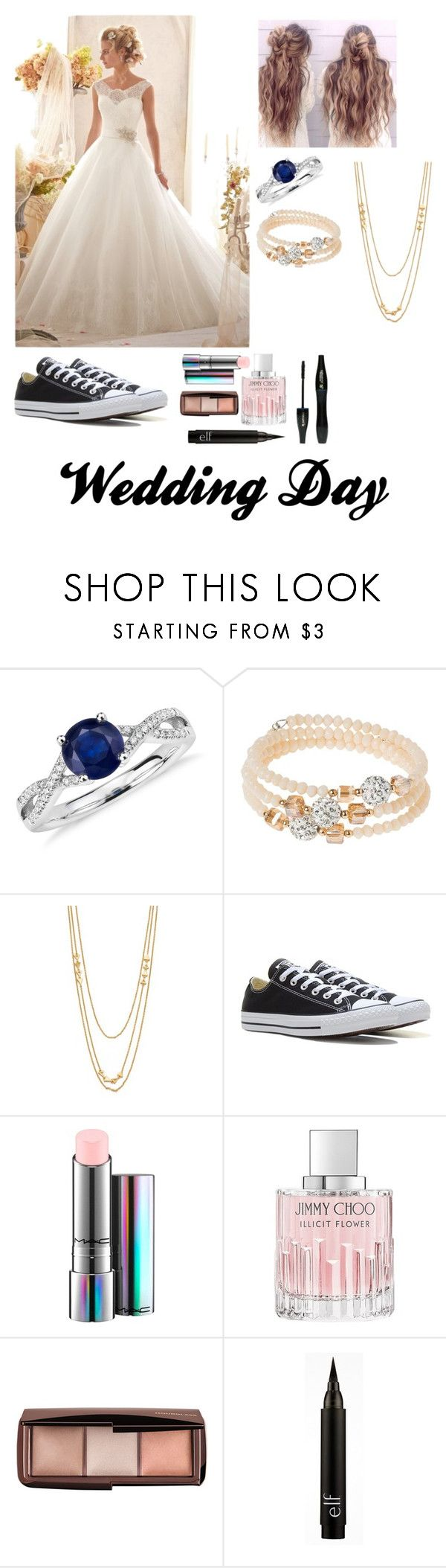 """""""Untitled #16"""" by ice-sprinkles ❤ liked on Polyvore featuring Blue Nile, sweet deluxe, Gorjana, Converse, MAC Cosmetics, Jimmy Choo and Lancôme"""