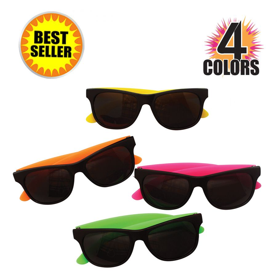 Classic sunglasses offered in assorted colors make a favorable ...