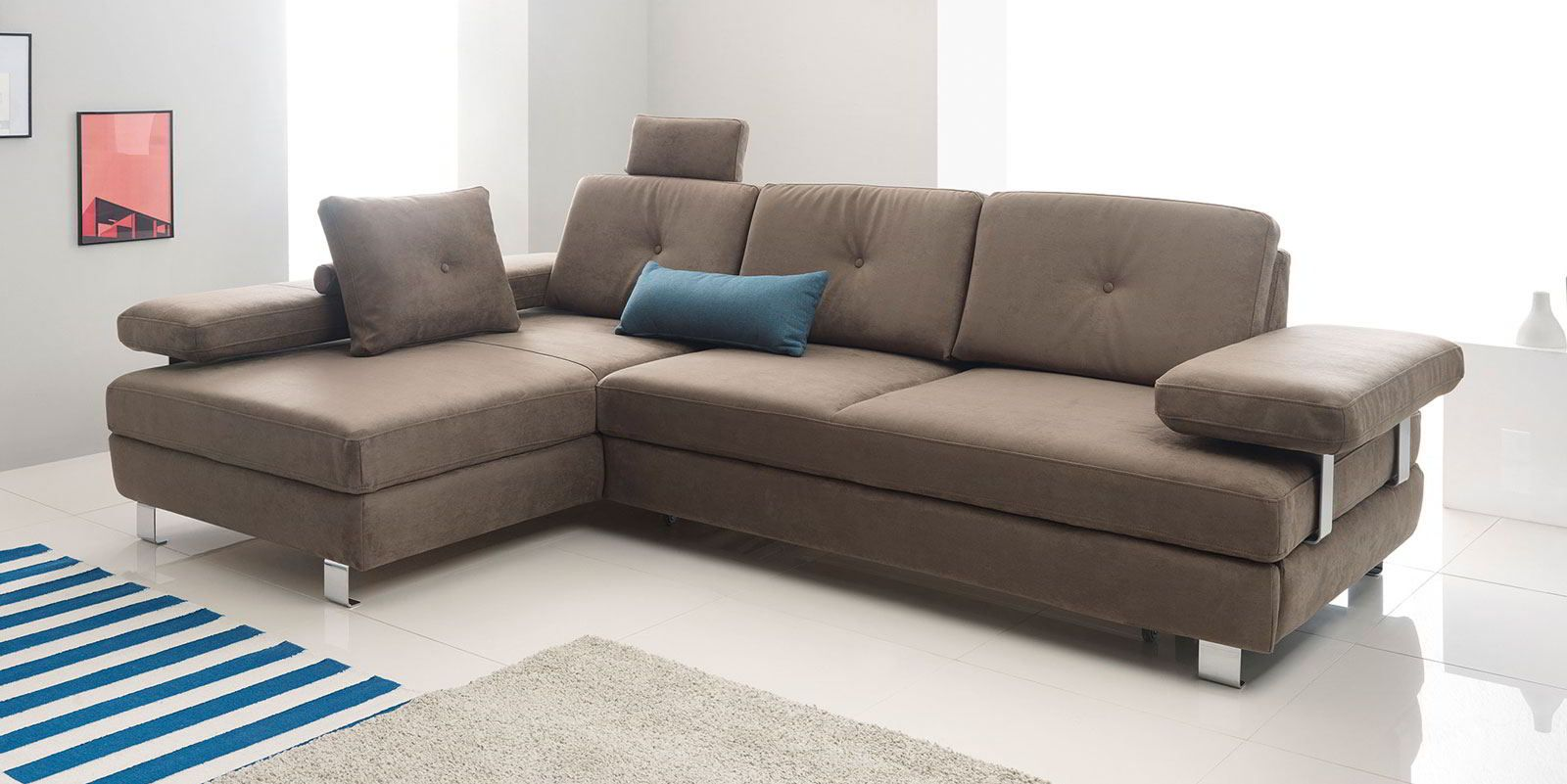Ecksofa Mit Schlaffunktion Und Bettkasten Fronti Funktionssofa Moebella24 Ecksofa Sofa Bequemes Sofa