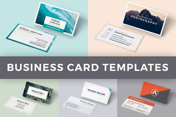 Bundle 5 Business Card Templates For Adobe Indesign By