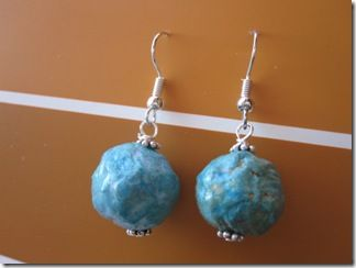 Paper Mache Earrings Paper Mache Paper Earrings Make Paper Beads