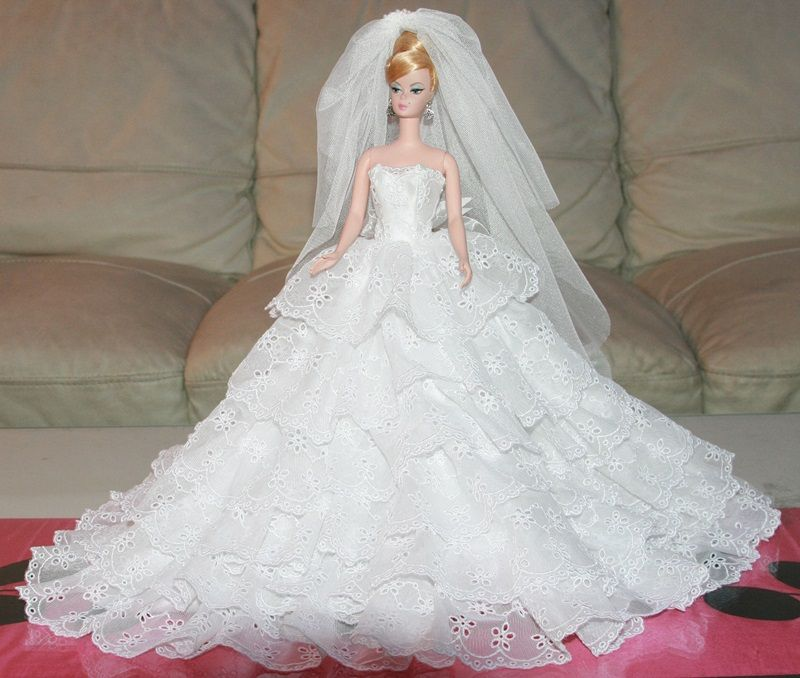 Royalty Silkstone Barbie Wedding Gown Dress Outfit P6 | eBay ...