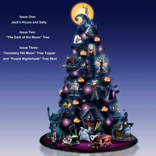 nightmare before christmas black tree purple lights issue 2 bradford exchange