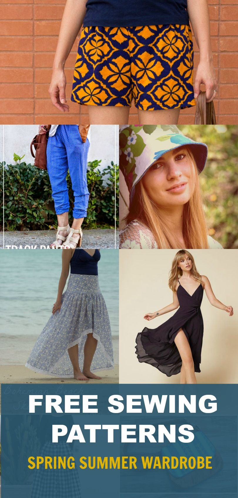 Free sewing patterns: Spring wardrobe for women | On the Cutting Floor: Printable pdf sewing patterns and tutorials for women